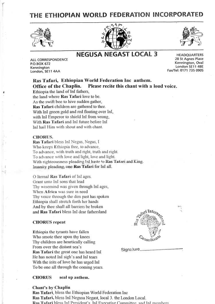 EWF anthem